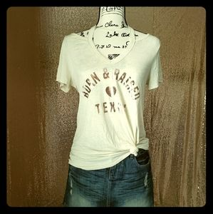 NWOT - Born & Raised Texan Collar Cut Tee
